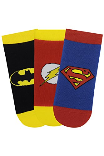 BALENZIA Unisex's Cotton Ankle Socks (Pack of 3) (JL/KDM/LC-01_Black, Blue, Red_9-12 Years)