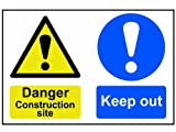 Scan 4005 600 x 400mm PVC Danger Contruction Site Keep Out