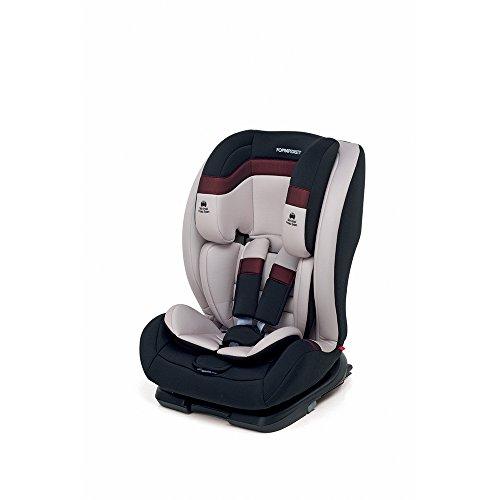 Foppapedretti Re-Klino Fix Seggiolino Auto, Gruppo 1/2/3 (9-36kg), per Bambini da 9 Mesi a 12 Anni, Avorio