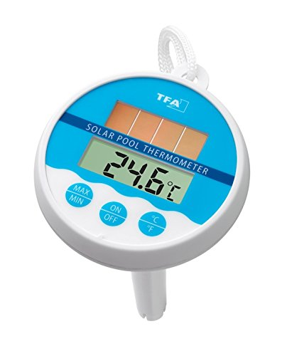 TFA Dostmann Digitales Solar-Poolthermometer, 30.1041, Solarbetrieben