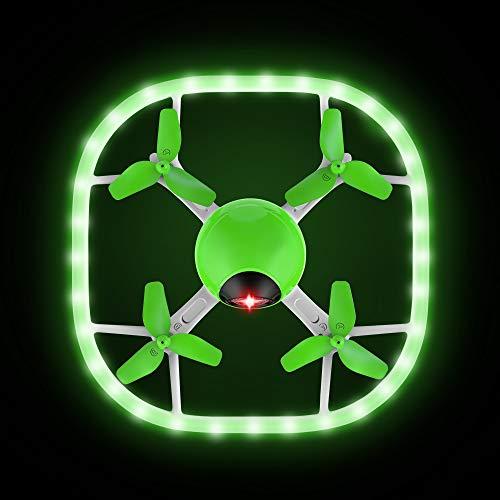 Potensic Drone U51 Luminoso con Telecomando Funzione di Senza Testa e Un Tasto di Decollo e...