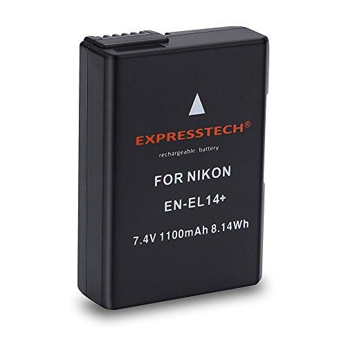 Expresstech @ Sostituzione Batteria EN-EL14 ENEL14 1100mAh per Nikon D5500 D5300 D5200 D5100 D3100 D3200 D3300 D3400 Df nikon P7100 P7000 P7700 P7800
