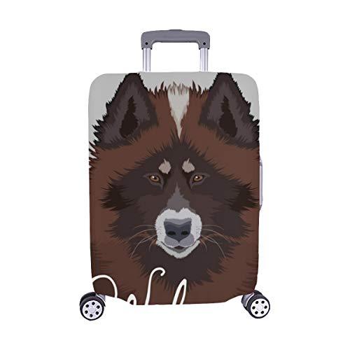 (Solo Cubrir) Cubierta Protectora para de Maleta Protectora de Equipaje de Viaje de Perro Esquimal Canadiense Perro Amigo compinche 28.5 x 20.5 Pulgadas