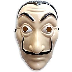 Máscara CASA de Papel rígida de Dali, ideal para el disfraz de CASA de Papel para la cara