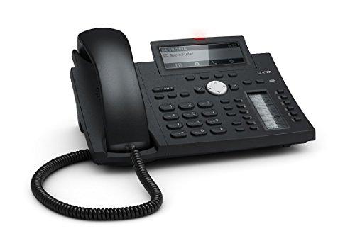 Snom Desk Telephone D345 (High-resolution Display, 12 (48) Configurable, Self-labelling, Multicolored LED Keys) Black