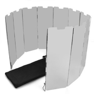 SODIAL(R) 10 placas Fold camping Cocina Cocina de gas Escudo del viento de la pantalla plegable al aire libre 9