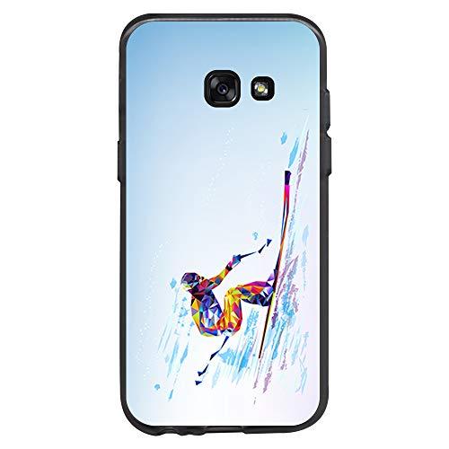 BJJ SHOP Custodia Nera per [ Samsung Galaxy A3 2017 ], Cover in Silicone Flessibile TPU, Design:...