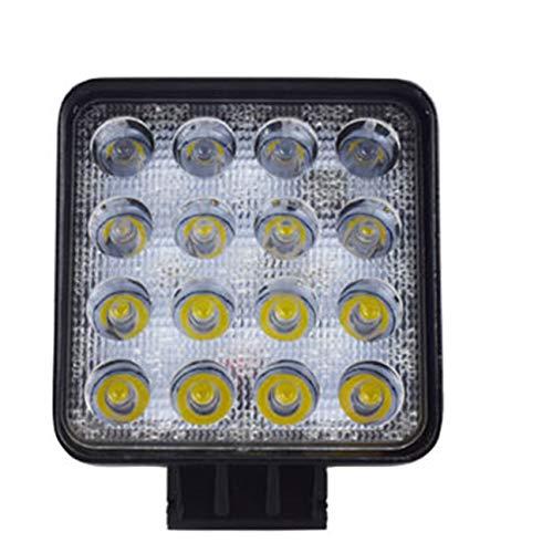 48W LED DRL Luz de trabajo Luz cuadrada a prueba de agua Foco súper brillante para el automóvil todoterreno Camión Motocicleta negro