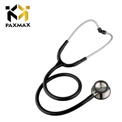 PAXMAX Economy Dual Head Stethoscope Black for Doctors & Medical Students