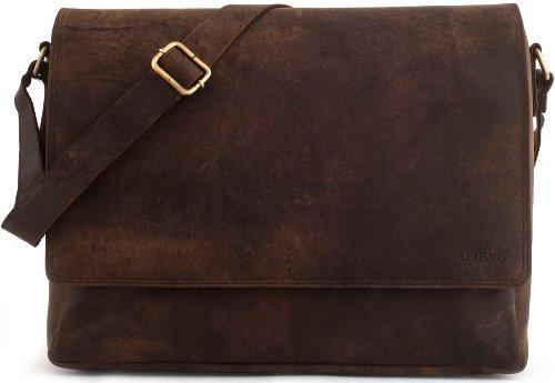 1ef39188a86ce LEABAGS Oxford Umhängetasche Laptoptasche 15 Zoll aus Leder im Vintage  Look