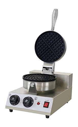 Hansel Hospitality Stainless Steel Commercial Round Belgian Waffle Maker