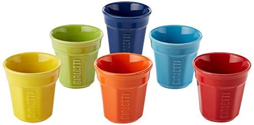 Bialetti Y0TZ500 Set da 6 bicchierini, Multicolore