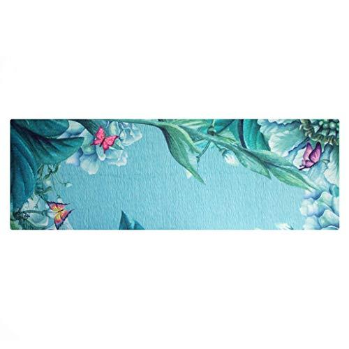 CXQ Manta de Yoga Toalla resbaladiza Sudor Toalla Mariposa Creativa Amor Impresión de la Flor Estera de Yoga Manta de Fitness
