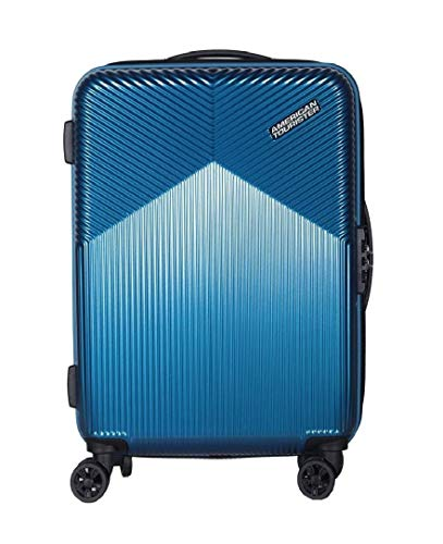 AMERICAN TOURISTER. Polycarbonate Hardsided Small Size Cabin Suitcase (20-inch 55cm,Armada Blue)