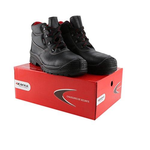 Cofra Scarpe antinfortunistiche, S3SRC, scarpe per sicurezza sul lavoro, 42 EU, Nero