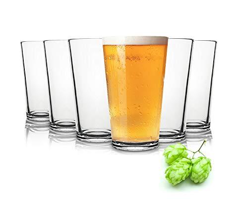 Tivoli Liverpool Bicchieri di birra- 490 ml - Set da 6 - Bicchieri di Alta qualità - Lavabili in...