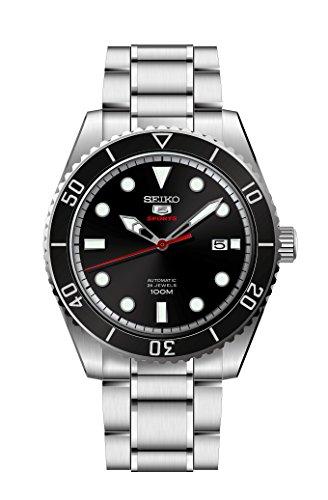 Seiko Herren Analog Automatik Uhr mit Edelstahl Armband SRPB91K1