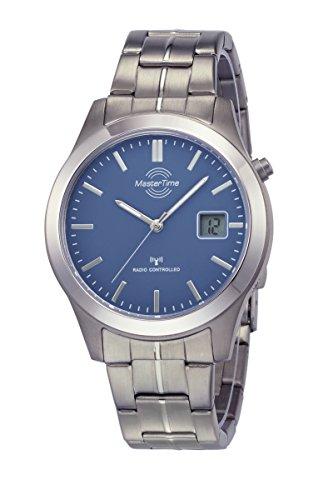 Master Time Funk Quarz Herren Uhr Analog mit digitalem Datum mit Titan Armband MTGT-10351-31M