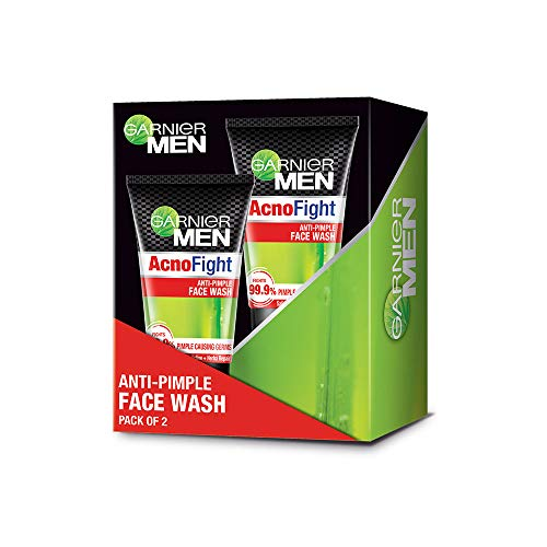 Garnier Men Acno Fight Anti-Pimple Facewash, Pack of 2, 200g