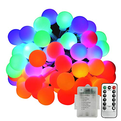 Lucine LED Decorative, Neoperlhk Luci LED Colorate da Esterno Impermeabile IP44 5m 50 Lampadine 8...