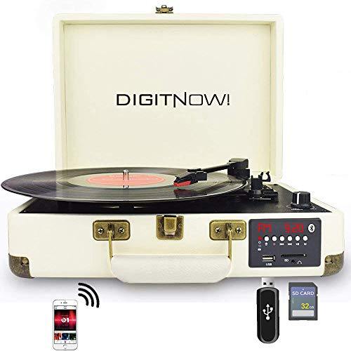 DIGITNOW! Bluetooth Vinile Giradischi , Portatile Convertitore Vinili con Altoparlanti Stereo...