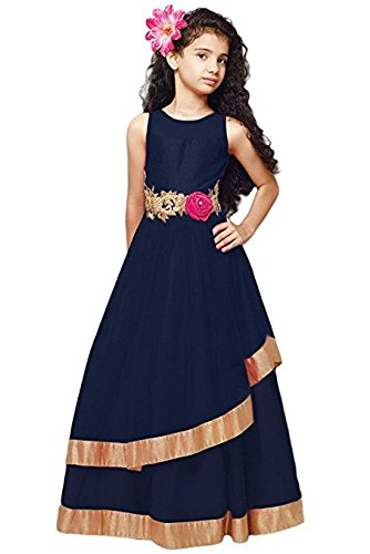 Girls dress ( Silverwings creation girls navy blue color 10-12 year girls size )