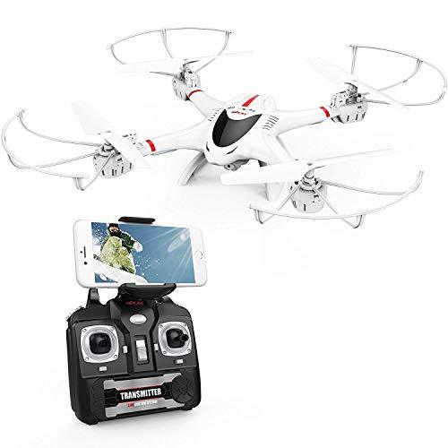 DBPOWER Drone X400W FPPV Quadricottero Wi-Fi con Telecamera per Video dal Vivo, Headless Mode,...