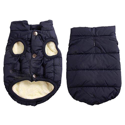 JoyDaog, giacca per cani, a 2 strati, foderata in pile, super calda e molto morbida, ideale per il...