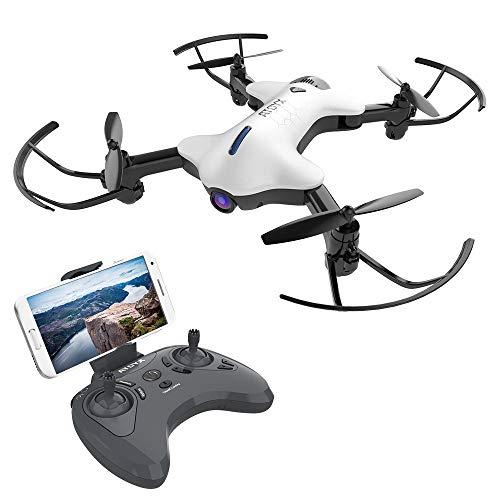 ATOYX AT-146 FPV Pieghevole Drone, Telecamera HD 720P WiFi FPV 2.4Ghz Modello Senza Testa Quadcopter con Funzione di Flusso Ottico Adatto ai Principanti Bambini (Bianco)