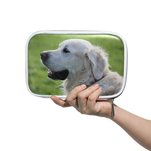 Montoj, astuccio per pennelli da trucco, motivo: cane retriever, con chiusura a cerniera, grande...