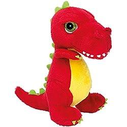 Suki Gifts International T-Rex Dinoz Dinosaurio suave de peluche (tamaño pequeño), color rojo