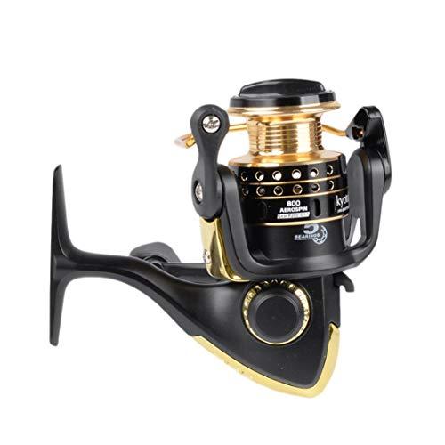 DF-IT Super Strong 5.1: 1 Per mulinello da pesca d'acqua dolce/salata Mulinello da pesca Mulinello da spinning (colore: nero e oro 800)
