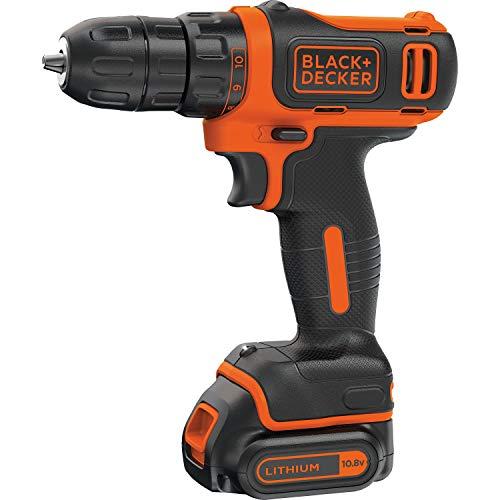 BLACK+DECKER BDCDD12-QW Visseuse sans fil - 10.8 V - 1,5 Ah - 1 batterie - Chargeur inclus