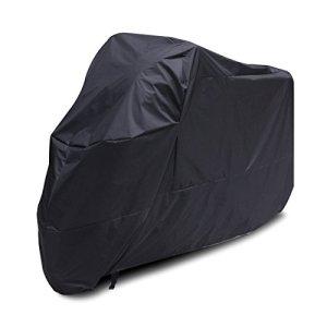 Motorradabdeckung, wasserdicht, wasserdicht, Regen, UV-Schutz, atmungsaktiv, mit Aufbewahrungstasche, groß 7