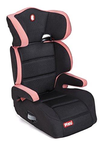 Piku 6228 - Seggiolino Auto, Gruppo 2/3 (15-36 kg), per Bambini da 3 a 12 Anni, Colore Rosa/Nero