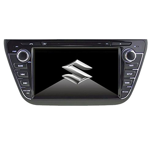 CAR AXIS Suzuki S-Cross DVD GPS 7-inch Touchscreen Bluetooth Indash Car Multimedia Player with Navigation Maps
