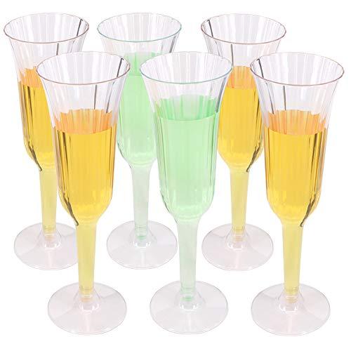 Benail 60confezione 155,9gram plastica trasparente champagne vetro champagne tazze cocktail party matrimoni tostatura flauti