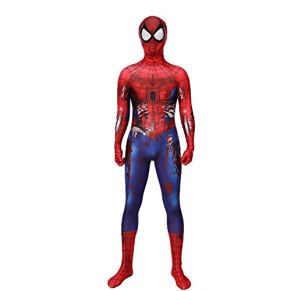 SPIDERMANHTT Traje de una Pieza de Halloween Spiderman Medias Traje de Cosplay Niño Adulto Impresión 3D Spandex Lycra ( Color : Adults , Size : XXL )