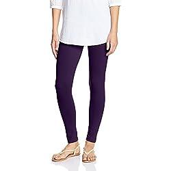 Myx Women's Cotton Stretch Leggings (AW16LEG01O_Wine_Medium)