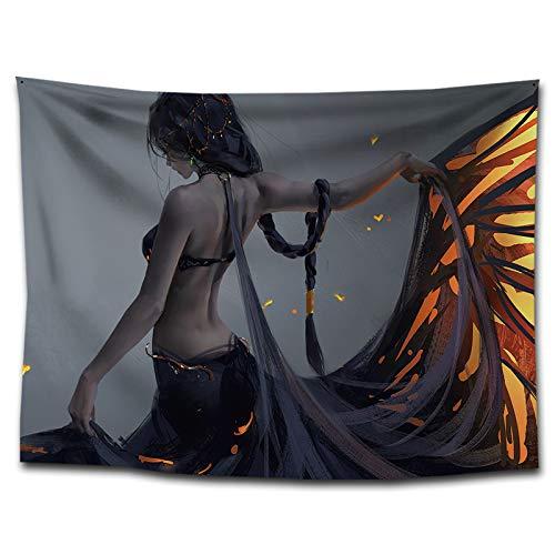ANCHIGT Tapiz decoración para el hogar Toalla de Playa tapete de Yoga Sala Dormitorio Decoración Ropa mariposa-230×180cm