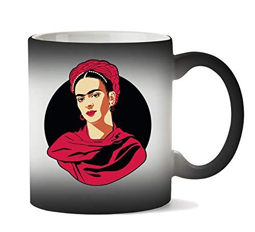 Wicked Design Frida Kahlo Portrait Taza Calor Cambio De Color
