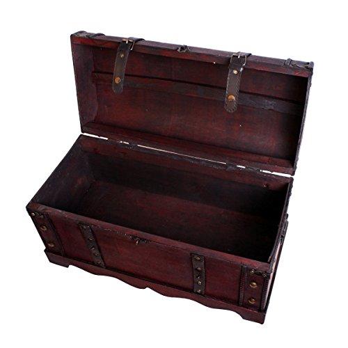 Scrigno del tesoro, forziere, cassa in legno, scatola da pirata, portagioie, cassa in legno per...