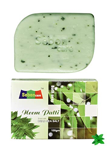 SebonCare Neem Patti Soap Enrich with Dead Sea Salt, Neem Leaves, Neem Oil, Aloevera Extract, Roase Water 100gm (pack of 1)
