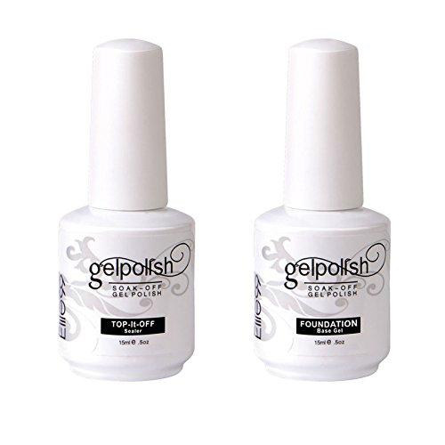 Elite99 Smalto Semipermente per Unghie in Gel UV LED Base e Top coat Semipermanente 2pzs Kit per...