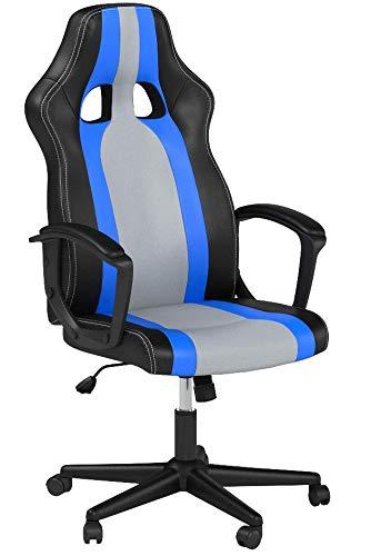 IntimaTe WM Heart Sedia Gaming Economica 150 kg, Poltrona Girevole per Computer, Sedia da Ufficio con Schienale e Rotelle Poltrone Ufficio per Studio (Blu)