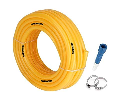garbnoire Flexible 0.5 inch and 15 m Long Garden Water Pipe with Hose Connector (Yellow)