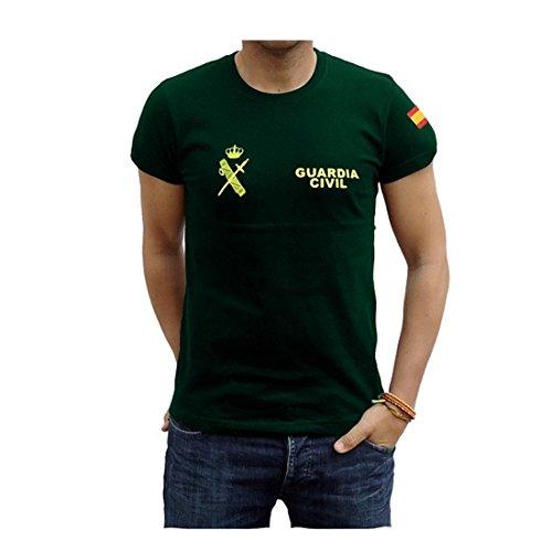 Piel Cabrera Camiseta Guardia Civil (Talla L, Verde)