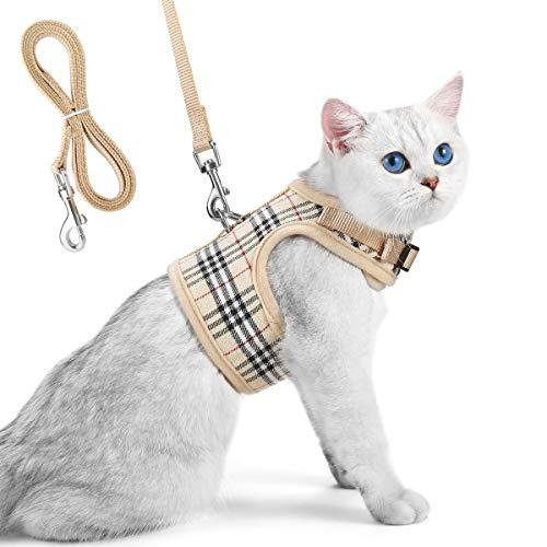 arnes y correa para gato- cómodo y seguro arnes gato