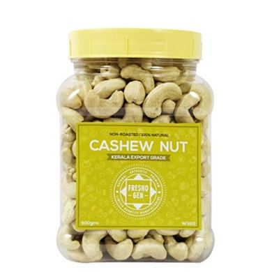 FreshoGen Cashew Nut Kerala Origin Premium Whole Kaju Plain & Raw Cashew Nut 14