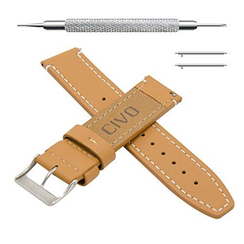 CIVO Cinturino Orologio in Pelle Quick Release Orologio Cinturini per Uomo e Donna Smartwatch Orologio Cinturino 18 mm 20 mm 22mm